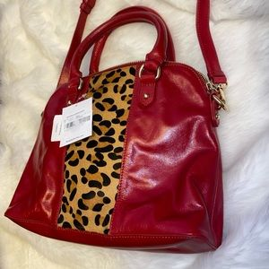 NWT Leather Badgley Mischka handbag/crossbody